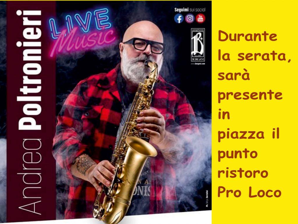 Andrea Poltronieri live a Canaro, 3 luglio 2021